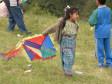 Auch die Kleinen lassen ihre Drachen steigen