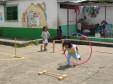 Kleiner Bewegungsparcour auf dem Hof