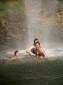 """Erfrischung in einer """"Cascada"""" (Wasserfall)"""